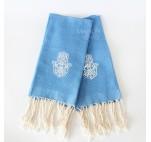 Set of 2 towels blue Khomssa