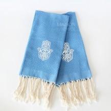 Lot de 2 serviettes bleus en fouta