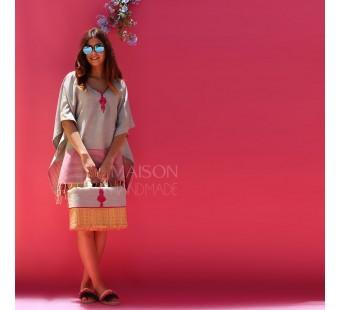 Kit ZEENA Gris clair & Rose