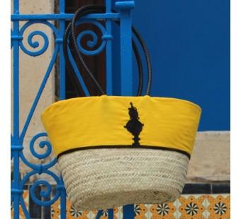 Couffin Zeena jaune & noir oval